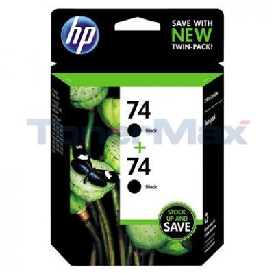 HP NO 74 INK CARTRIDGE BLACK TWIN PACK